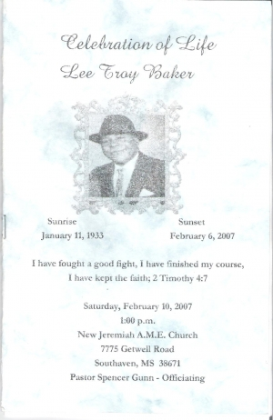 Lee Troy Baker Sr. (1933-2007)