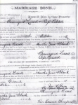 Marriage Bond of Beaugard Liddell & Martha Jane Black-Liddell