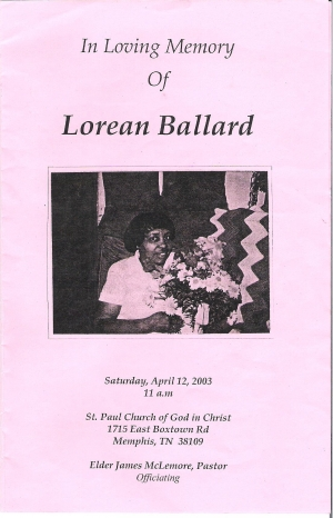 Lorean Williams-Ballard (1924-2003)