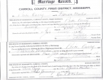 Marriage License - Price Curry Jr.
